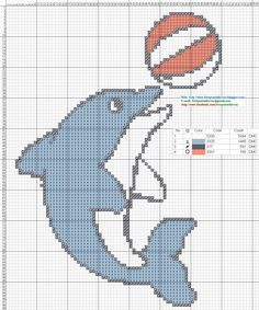 FREE GRAPHICS POINT CROSS: DOLPHINS