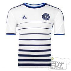 2302a70ece Camisa Adidas Dinamarca Away 2014 - Fut Fanatics - Compre Camisas de  Futebol Originais Dos Melhores Times do Brasil e Europa - Futfanatics