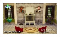 Sims 4 Designs: Knitted Star Rug