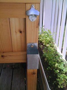 Muebles de exterior caseros en pinterest banco hecho en - Mueble para nevera ...