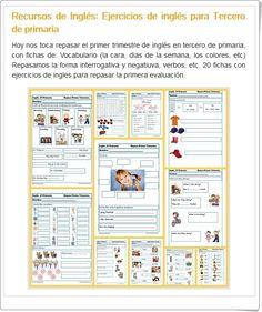 Ejercicios de Inglés para 3º Nivel de Educación Primaria, primera evaluación, en la web de educapeques.