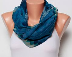 Blue scarf Womens fashion scarves gift For Her Holiday cotton scarf shawl lace scarf womens scarves summer scarves spring scarf