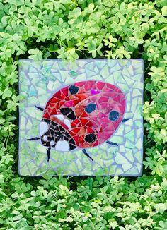Mosaic Wall Art, Mosaic Glass, Glass Art, Kitchen Wall Art, Kitchen Decor, Egyptian Cats, Blue Flowers, Ladybug, Watercolor Art
