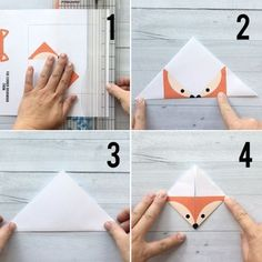 These woodland animal origami bookmarks are adorable! Make a DIY origami bookmark out of one piece of paper with 7 free printable origami templates. Design Origami, Instruções Origami, Origami Tattoo, Origami Templates, Origami Fish, Origami Flowers, Dollar Origami, Origami Sailboat, Origami Elephant