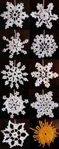 Crochet everything. Crochet Snowflake Pattern, Crochet Snowflakes, Crochet Motif, Crochet Doilies, Crochet Flowers, Thread Crochet, Lace Knitting, Crochet Crafts, Crochet Stitches
