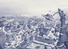 Ilustrações de Ugo Gattoni