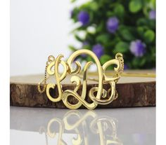Gold Plated 3D Monogram Name Necklace 3DGG