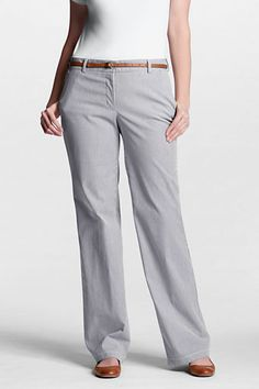 Women's Plus Size Fit 2 Tummy Control Wide Leg Stretch Pincord Pants from Lands' End