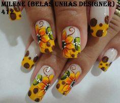 Ideas American Gel Manicure French Tips Autumn Nails, Fall Nail Art, Glitter Nail Art, Nail Polish Designs, Nail Art Designs, Manicure Colors, Manicure Ideas, Gel Manicure, Pedicure