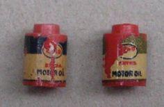 Lego 1247 # 2x ESSO Ölfass GOLD und BLAU # alt vintage 1:87 Mursten | eBay