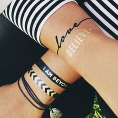 Assorted Flash Temporary Tattoos by BEYOND YOGA | Gold | Shimmer | Body Art | #iamBEYOND