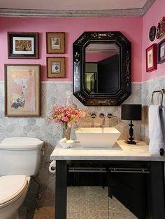 Badezimmer Rosa Hellgrau Kombination