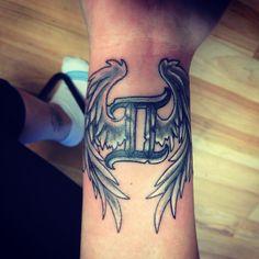Gemini tattoo with wings ❤️