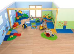 Espace de motricité 0-2 ans - Salle motricité - Exemples d'aménagement - Haba petite enfance - Habermaaß GmbH