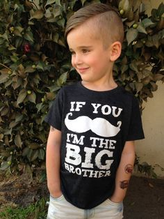 Big Brother Shirt - Boys Top - Funny If You Mustache Kids Shirt - Boys Clothing For Baby and Toddler and Youth - Kids Mustache T Shirt