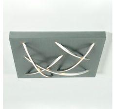 Escale Curved quadratisch, LED-Deckenleuchte