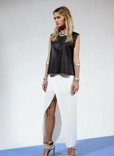 #THEWYLDSHOP              #Skirt                    #Black #Thigh #High #Slit #Maxi #Skirt              Black Thigh High Slit Maxi Skirt                                              http://www.seapai.com/product.aspx?PID=294224