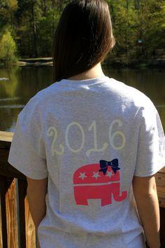 Future First Lady  - Women's 2016 GOP Short Sleeve Pocket Tshirt , $19.99 (http://www.futurefirstlady.net/womens-2016-gop-short-sleeve-pocket-tshirt/)