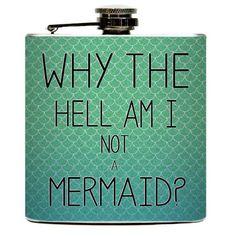 The Mermaid Liquid Drinking Flask.   Mermaids Scales Ocean Girls Night Funny Birthday Party Gifts - Stainless Steel 6   oz via Etsy