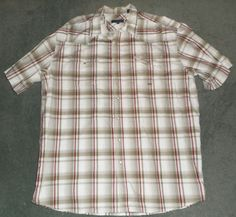 Men's Grey ROPER Plaid Pearl Snap Button Up Country Western Shirt, Size 3XL, GUC #ROPER #PearlStyleSnapButtonUpCountryWesternShirt