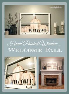 Artsy VaVa: Welcome Fall With A Hand Painted Window