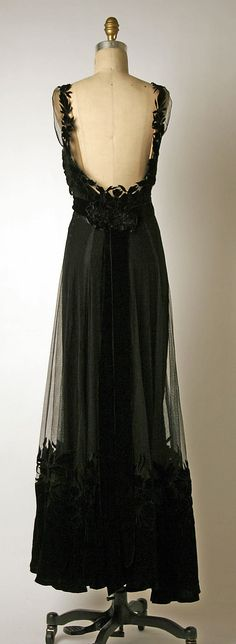 House of Dior Silk Evening Dress, 1947