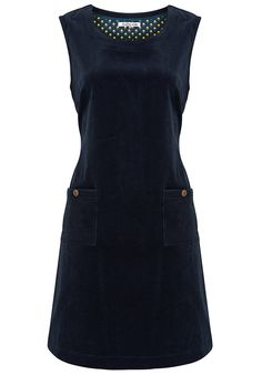 Eastern Cord Dress - Navy