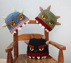 My Hat Is Eating My Head, Monster Hat, Crochet Beanie, Halloween Costume, Winter Hat, Children's Gift, Funny Hat, Boys, Girls, Men, Women