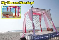 Simple, beach, outdoors, mandap