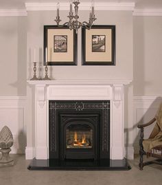 President Zero Clearance (536CXB). with Fires of Tradition Mantel Suite.