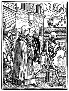 Artist: Holbein d. J., Hans, Title: »The Dance of Death« 22, The Priest, or Pastor, Date: 1524-26