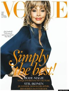 "Tina Turner Vogue cover - let's talk about the fact Tina is 73 years old & looks like she just stepped on the stage at the ""The Ed Sullivan Show"" in 1970 to perform ""Proud Mary."" Fashionista.com points out that the age-defying beauty might be the oldest Vogue cover star ever- snagging the title from Meryl Streep who covered American Vogue last year at the age of 62."