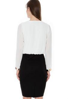 Biznis šaty PLUNGE MONOCHROME Monochrome, Blouse, Long Sleeve, Skirts, Sleeves, Tops, Women, Fashion, Blouse Band