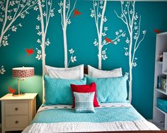 Beautiful Turquoise Girls Room :