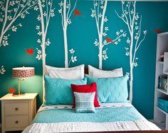 Beautiful Turquoise Girls Room :