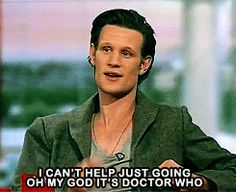 Matt Smith on seeing David Tennant at a party.