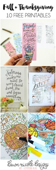 10 Free Fall and Thanksgiving Printables