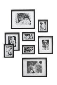 Myer - VUE Gallery 8 Pack Frame Set Black