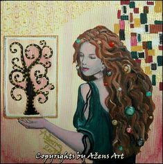 Mixed Media Canvas, Miniatures, Dreadlocks, Hair Styles, Beauty, Art, Hair Plait Styles, Art Background, Hair Makeup