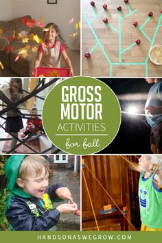 Kids love to move - embrace it with these simple, no-prep gross motor activities to do at home! 7 toddler and preschooler fall activities!