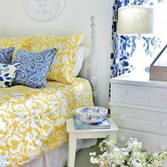 Take a tour of a tiny attic room tucked under the eves in a farmhouse. I know many Bed & Breakfasts that have attic rooms. Great ideas here for a possible redo.