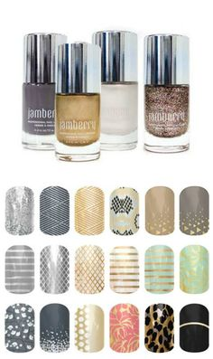Jamberry does polish, too. Mix and match nail wraps with polish. Possibilities are endless!: