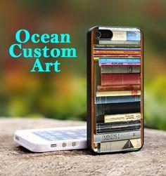 Book Shelf - Print on Hard Cover iPhone 5 Black Case