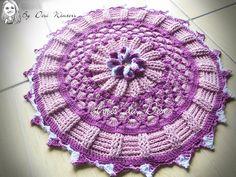 Tapete de Crochê Flor Generosa | Artes da Desi | Elo7