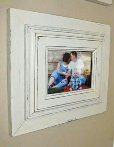 Get 3 picture frames fron the dollar store and glue then inside one another then paint!