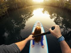 Valentine's Day Inspo: Skip dinner! Get outside on a romantic paddle boarding session together. #RelationshipGoals #GoPro #Love Want to capture a shot like this? Click for mount details!