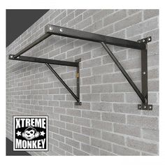 Xtreme Monkey Wall Mounted Chin Up Bar. Wall-mounted pull-up bar. Powder-coated finish for a sure grip. Mounting hardware and instructions are included. Pull Up Bar, Gym Room At Home, Crossfit Gym, Wall Mount Bracket, Chin Up, Workout Accessories, Fitness Accessories, No Equipment Workout, Fitness Equipment