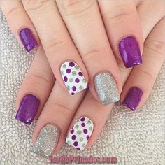 30 Adorable Polka Dots Nail Designs More Polka Dots, Nails Art, Purple, Nails… Dot Nail Designs, Simple Nail Art Designs, Nail Polish Designs, Nails Design, Crazy Nail Designs, Purple Nail Designs, Fingernail Designs, Nail Designs Summer Easy, Diy Nail Designs Step By Step