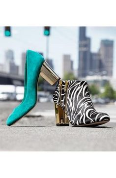 Teal pump or zebra bootie? Why not both.