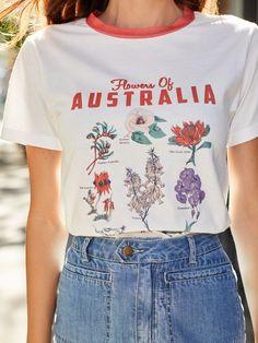 Loose T Shirt,Blooming Nature Cute Birds Fashion Personality Customization
